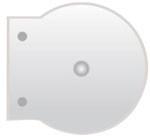 Okrogli DVD/CD box za fascikle - prozorni
